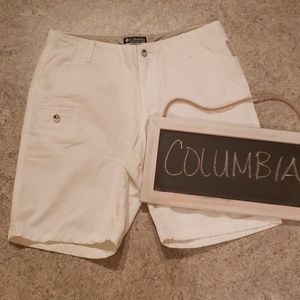 White Columbia Shorts